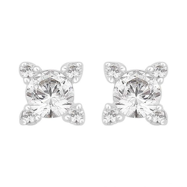 Perfection Crystals Single Stone Stone Set Claw Stud Earrings (0.50ct) E2442-SK