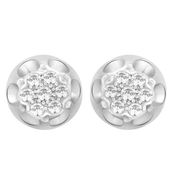 Perfection Crystals Antique Cluster Stud Earrings (0.25ct) E2124-SK