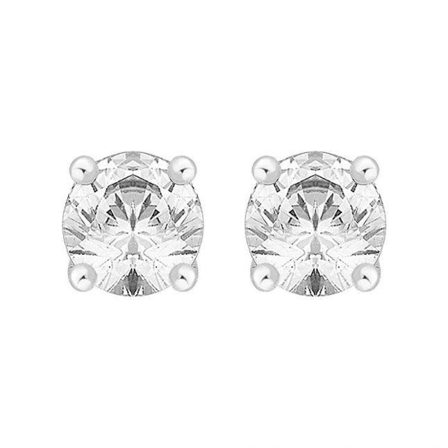 Perfection Crystals Single Stone Four Claw Stud Earrings (2.00ct) E0200-SK