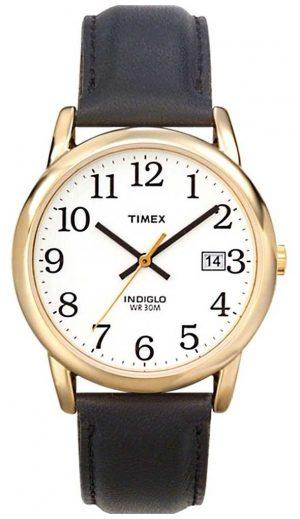 Timex Men's White Black Easy Reader Watch T2H291