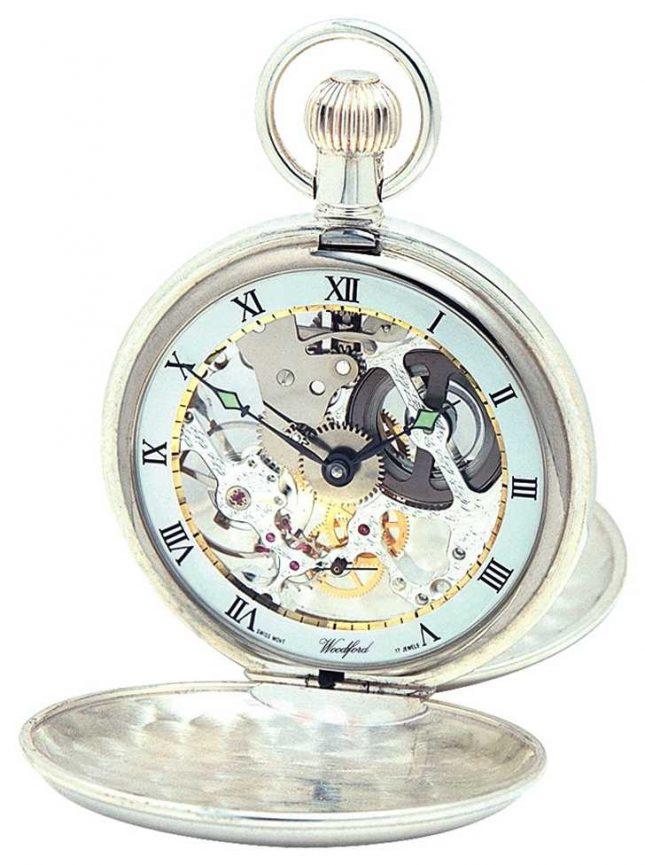 Woodford | Hunter Skeleton | Double Lid | Silver | Pocket Watch | 1002