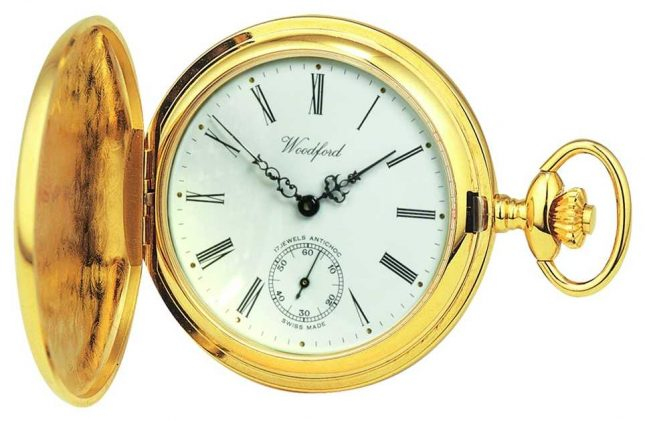 Woodford | Full Hunter | Gold Plated | Pocket Watch | 1016