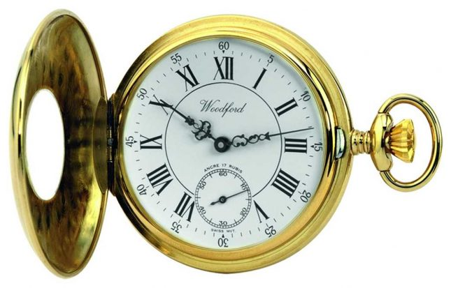 Woodford | Half Hunter | Gold Plated | Pocket Watch | 1010
