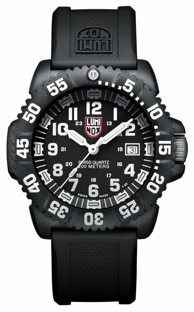 Luminox Mens Navy SEAL Colormark 3050 Black White Accents XS.3051
