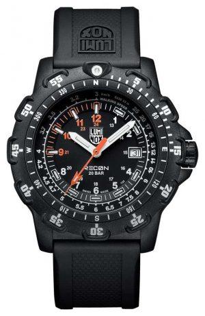 Luminox Men's RECON Pointman 8820 Series Black & Orange Rubber (km/h Tachymeter) XL.8821.KM