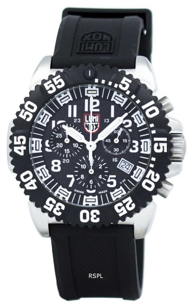 Luminox Navy SEAL Colormark Chronograph Stainless-steel Black Rubber Strap XS.3181