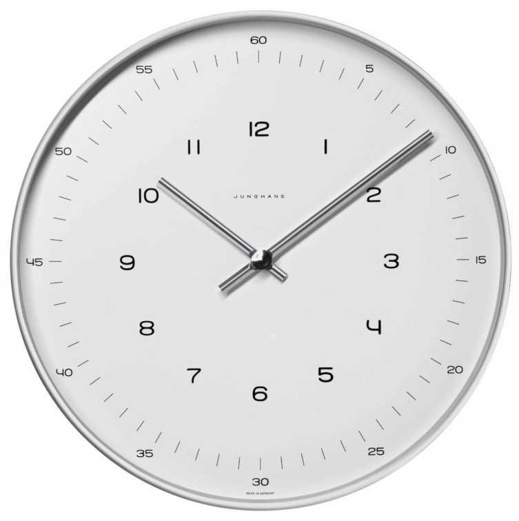 Junghans max bill 30cm Wall Clock Quartz 367/6047.00