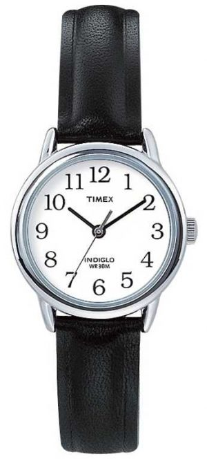 Timex Original Easy Reader Black Leather Strap T20441