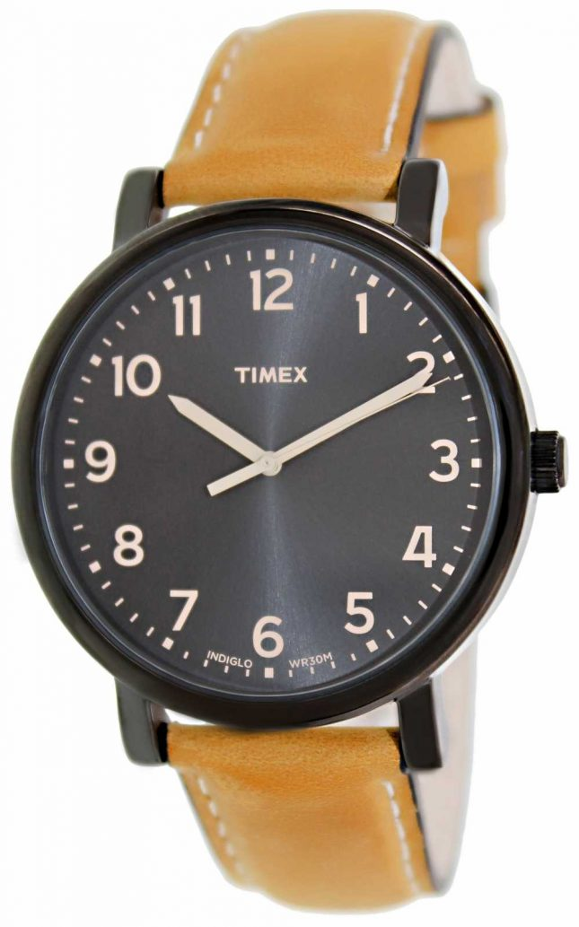 Timex Ez Reader tan strap classic watch T2N677