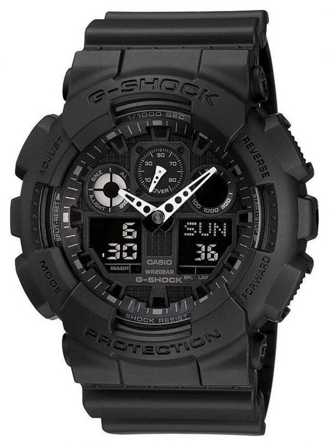 Casio G-Shock Chronograph Alarm Black GA-100-1A1ER