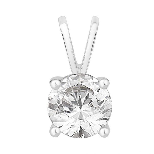 Perfection Crystals Single Stone Four Claw Pendant (1.00ct) P0100-SK