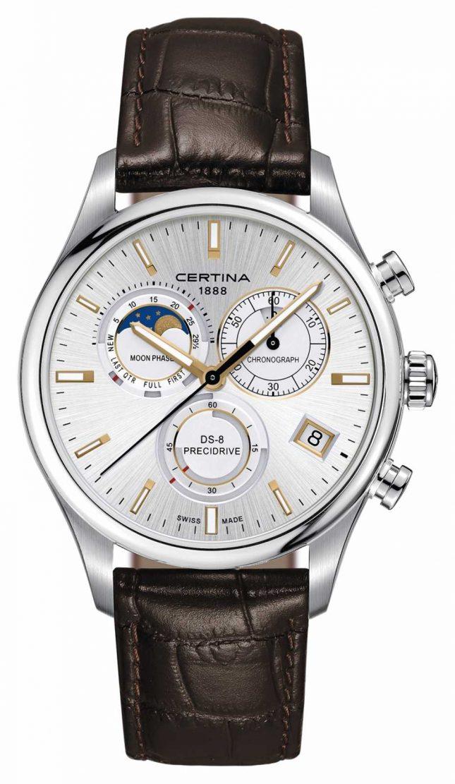Certina Mens Ds-8 Precidrive Moonphase Chronograph Watch C0334501603100