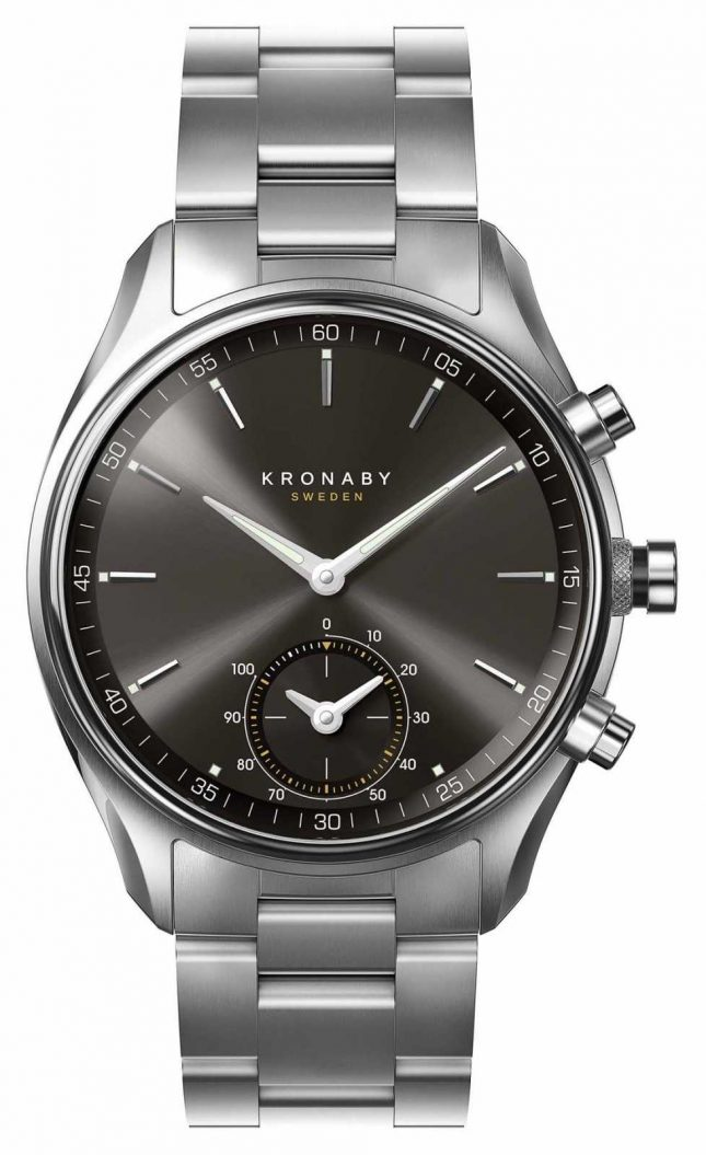 Kronaby 43mm SEKEL Bluetooth Black Dial Stainless Steel A1000-0720 S0720/1