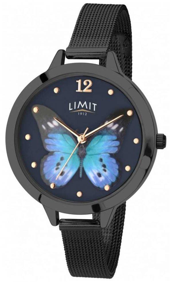 Limit Womens Secret Garden black pvd butterfly watch 6270.73