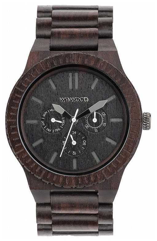 WeWood Mens Kappa Black Wooden Black Strap 70315300