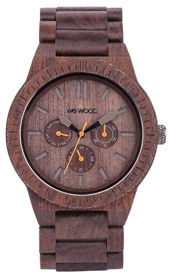 WeWood Mens Kappa Chocolate Wooden Brown Strap 70315500