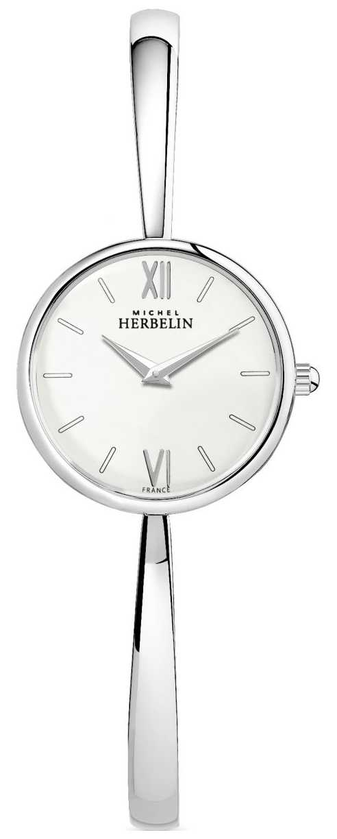 Michel Herbelin Ladies Silver Watch Silver Bangle 17408/B11
