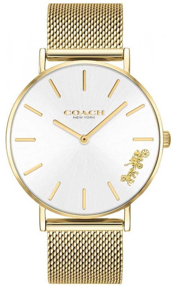 Coach Womens Perry Gold Mesh Bracelet Watch 14503125