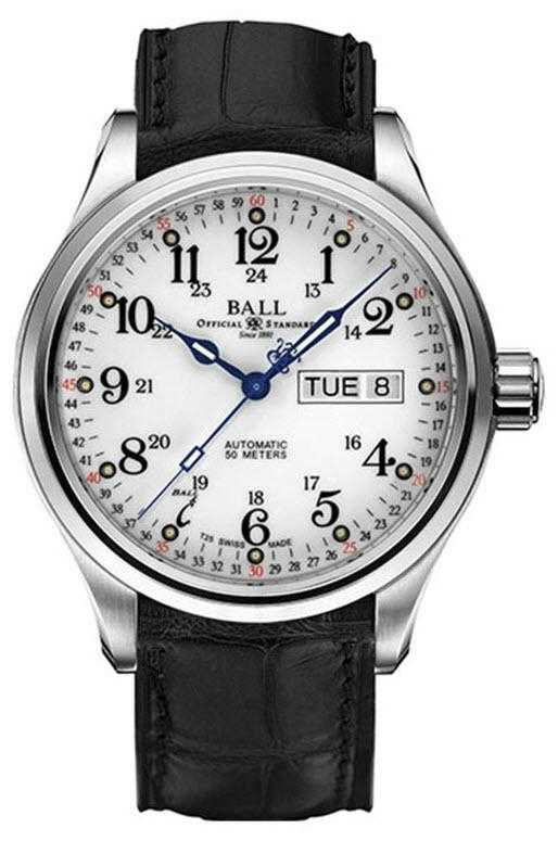 Ball Watch Company Trainmaster 60 Seconds Automatic Day & Date Display NM1058D-LL3FJ-WH