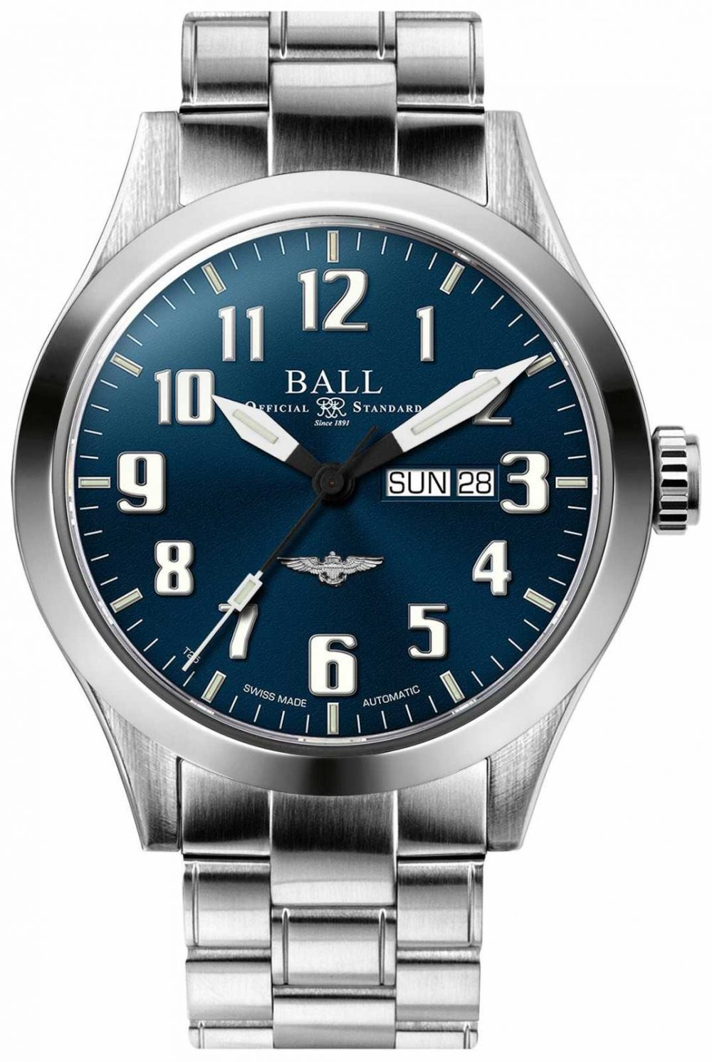 Ball Watch Company Engineer III Silver Star Blue Dial Day & Date Display NM2180C-S2J-BE