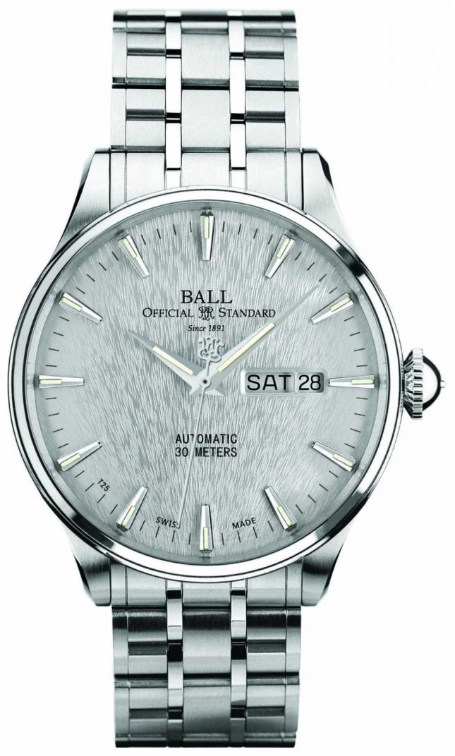 Ball Watch Company Trainmaster Eternity Silver Dial Automatic Day Date Display NM2080D-S1J-SL
