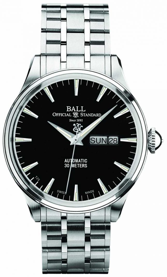 Ball Watch Company Trainmaster Eternity Black Dial Automatic Day & Date Display NM2080D-SJ-BK
