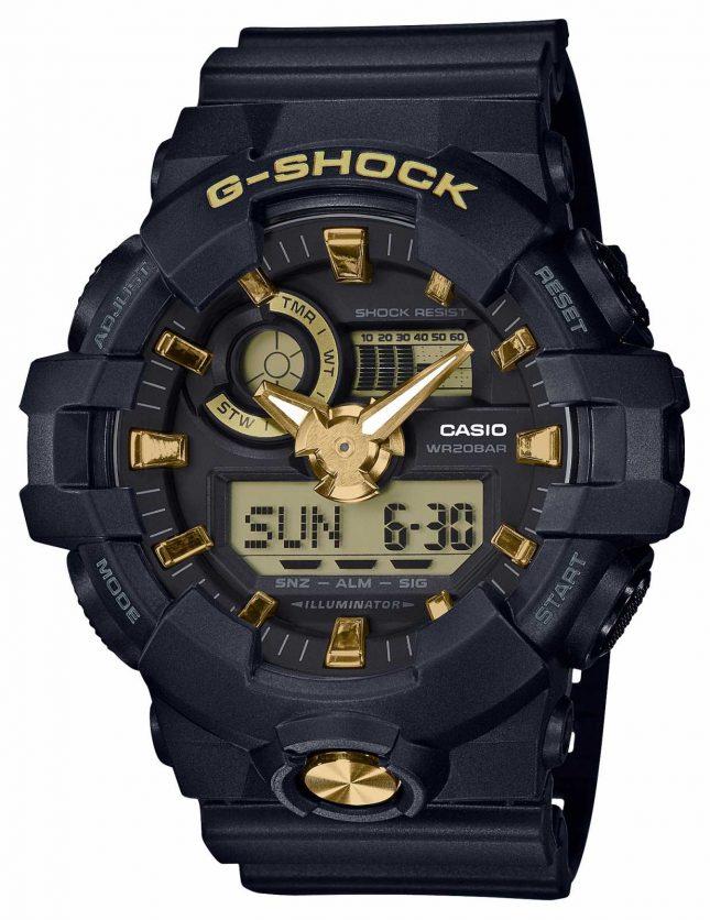 Casio G-Shock Analogue Digital Rubber Gold Watch GA-710B-1A9ER