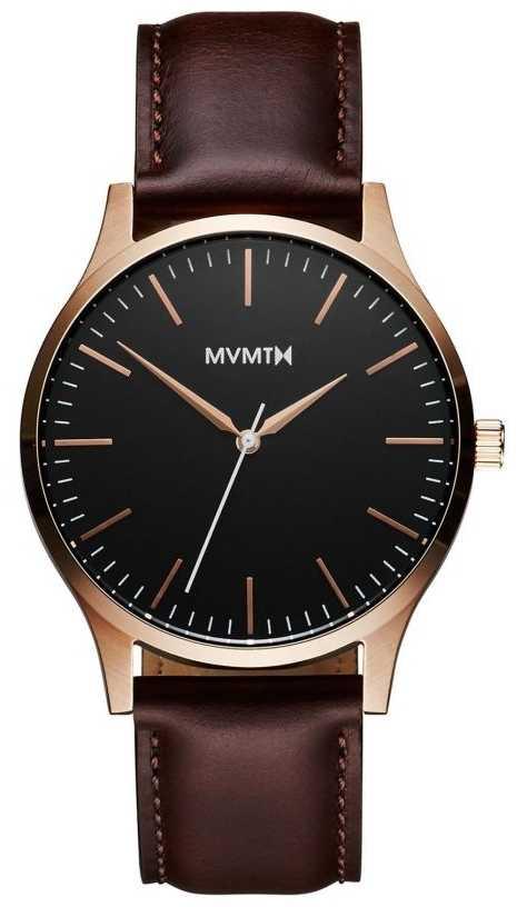 MVMT 40 Series Rose Gold Brown | Brown Strap | Black Dial D-MT01-BLBR