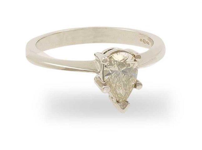 18k White Gold 0.49 ct Diamond Ring FCD00402