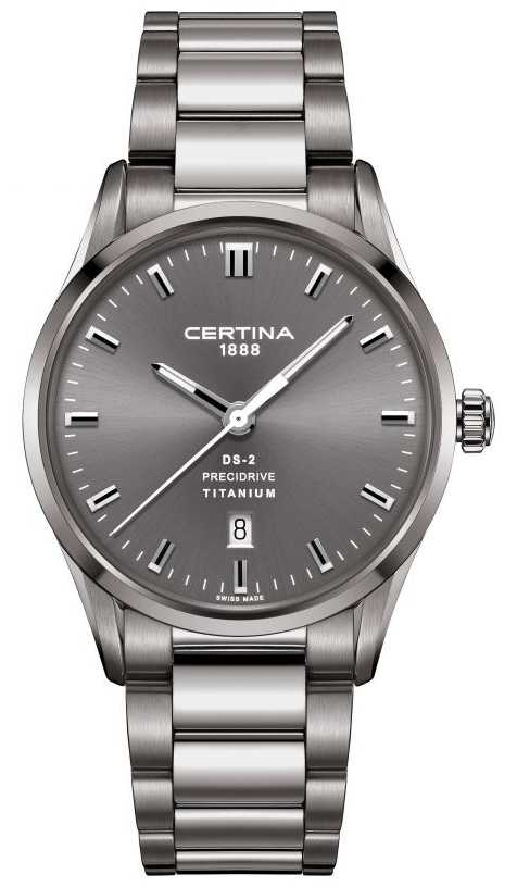 Certina Mens DS-2 Precidrive Grey Titanium Steel Watch C0244104408120