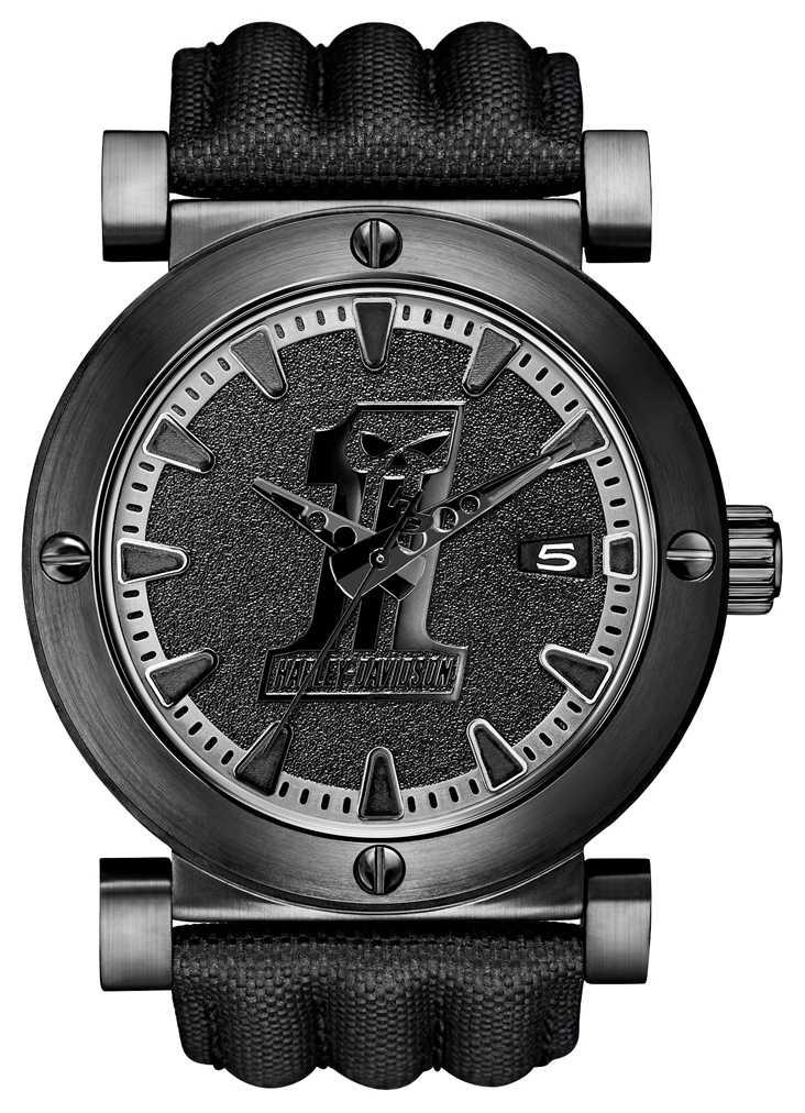 Harley Davidson Mens Black Label Watch 78B131