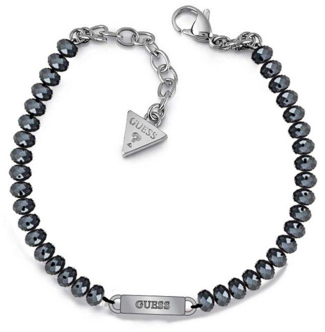 Guess Uptown Chic Blue Bead Logo Bracelet UBB28042-L