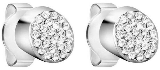 Calvin Klein Ladies Brilliant silver stainless steel crystal set Earrings KJ8YME040100