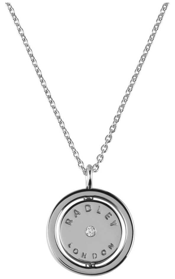 Radley Jewellery Love Radley Silver Radley Logo Spin Locket Necklace RYJ2017