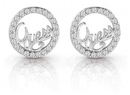 Guess Ladies Silver Plated Guess Authentics Studded Earrings UBE85075
