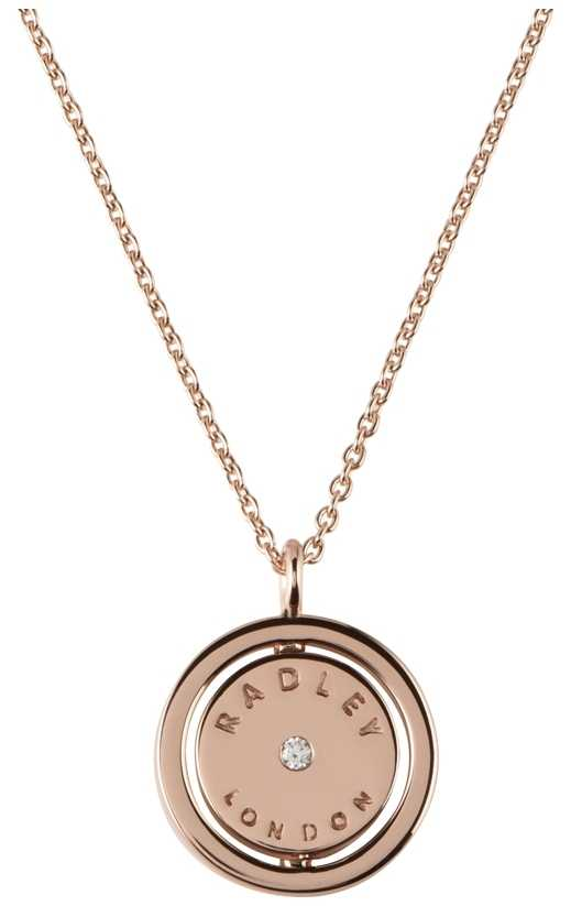 Radley Jewellery Love Radley Rose Gold Plated Logo Spin Locket Necklace RYJ2016