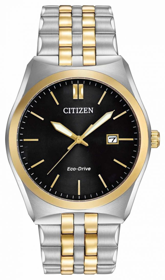 Citizen Men's Corso Eco-Drive Stainless-steel & Gold IP Black Dial Watch BM7334-58E