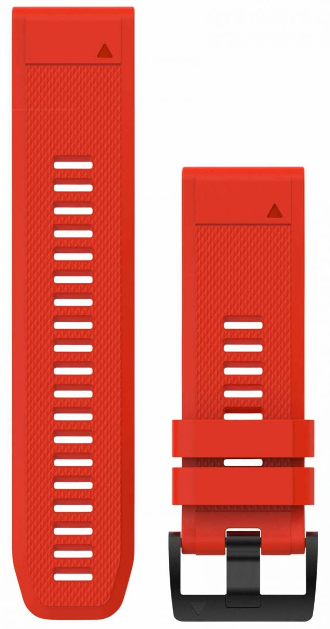 Garmin Flame Red Rubber Strap Only QuickFit 26mm 010-12517-02