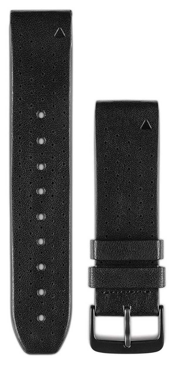 Garmin Black Perf. Leather Strap Only QuickFit 22mm 010-12500-02