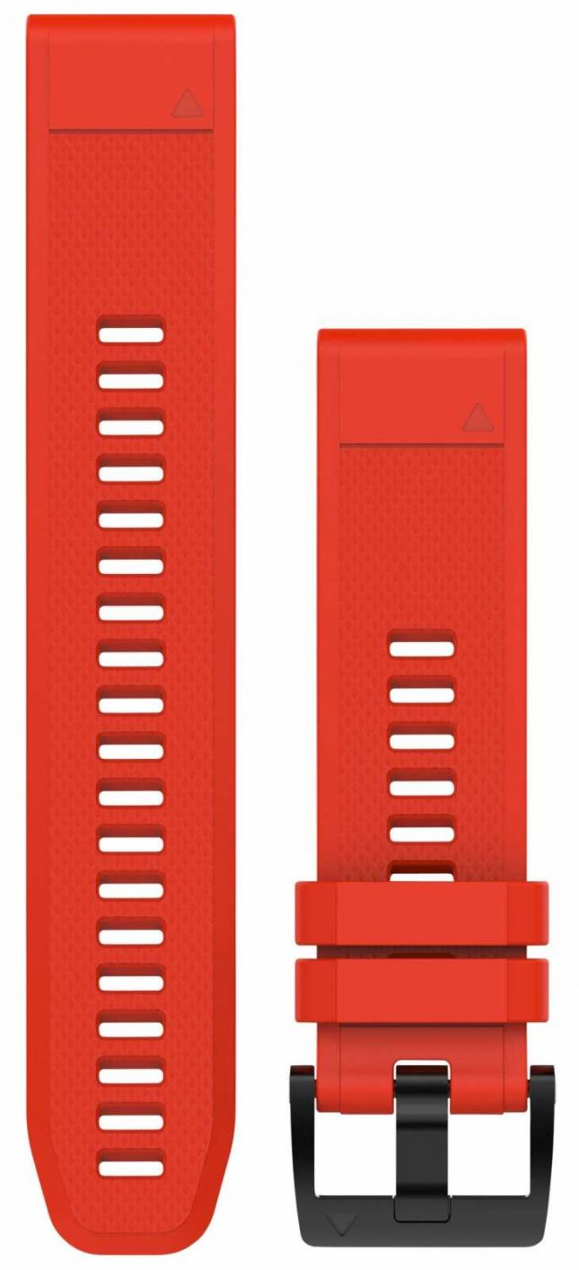 Garmin Flame Red Rubber Strap Only QuickFit 22mm 010-12496-03