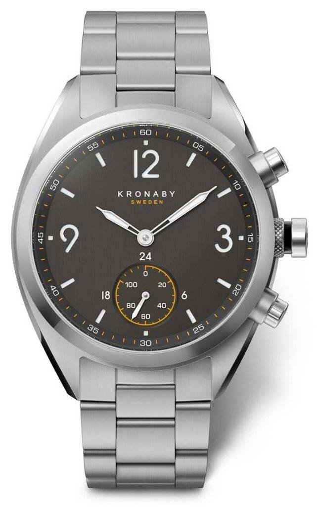 Kronaby 41mm APEX Black Dial Stainless Steel Bracelet A1000-3113 S3113/1