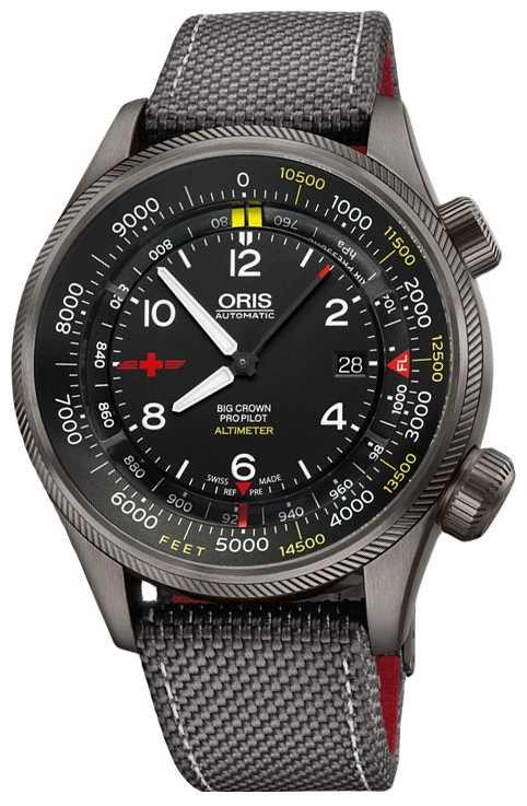 ORIS Big Crown ProPilot Altimeter with Feet Scale 47mm Mens Watch 01 733 7705 4234-Set5 23 16GFC