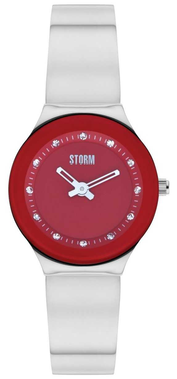 STORM | Arin Curvex Red Stainless Steel Watch | 47426/R