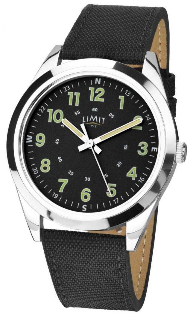 Limit   Mens   Black Leather Strap   5950.01