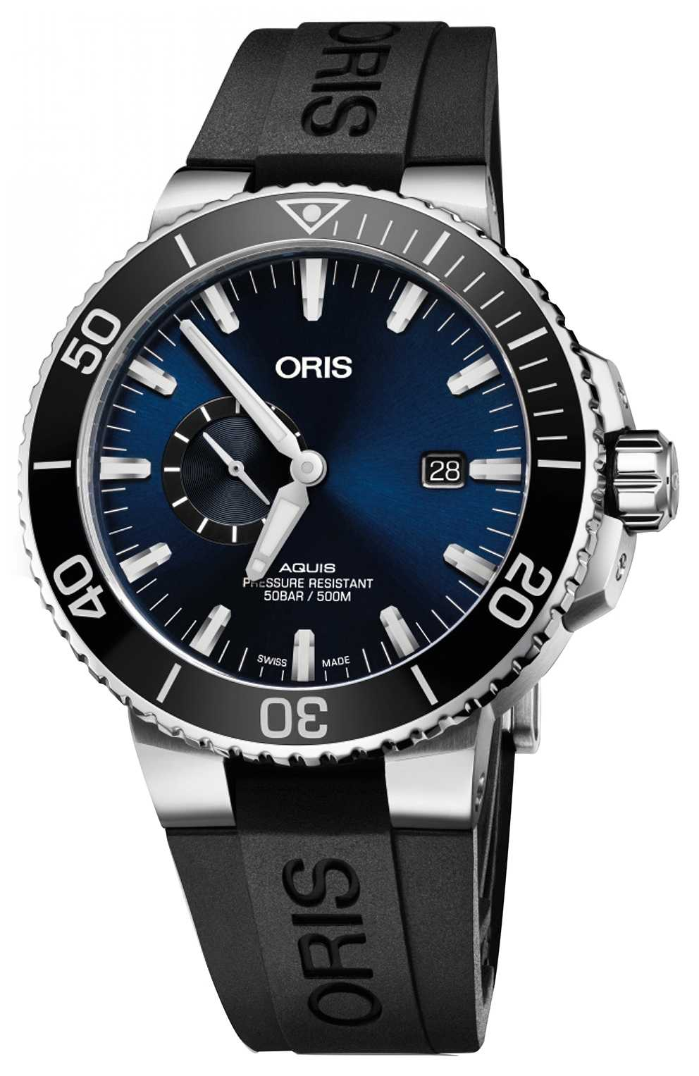 ORIS Aquis Small Second, Date 45.5 Mens Watch 01 743 7733 4135-07 4 24 64EB