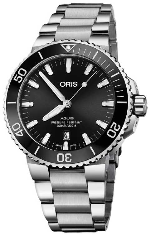ORIS Aquis Date 43.5mm Mens Watch | Metal Strap | 01 733 7730 4134-07 8 24 05PEB