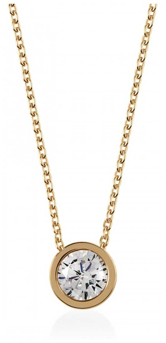 Radley Jewellery Gold Plated Fine Curbchain With Stone Set Pendant RYJ2028