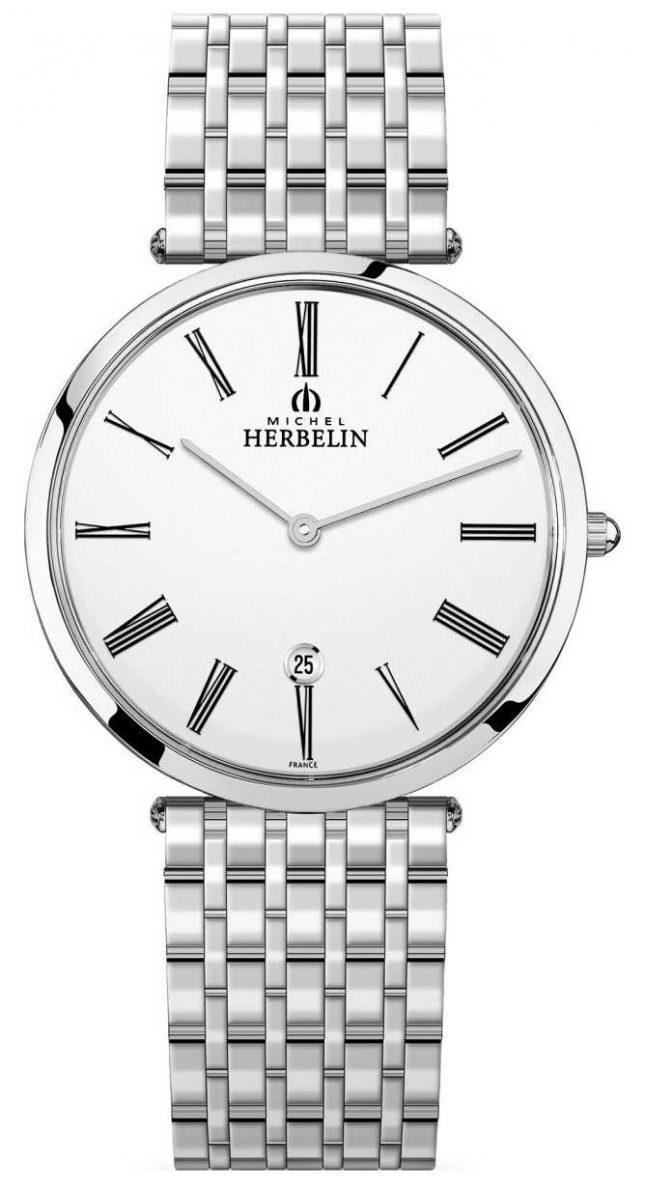 Michel Herbelin | Mens | Epsilon | Extra Flat Stainless Steel Bracelet | 19416/B01N
