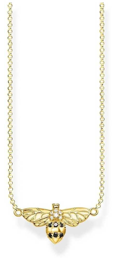 Thomas Sabo   Sterling Silver Gold Plated 'Bee' Necklace   KE1866-414-7-L45V