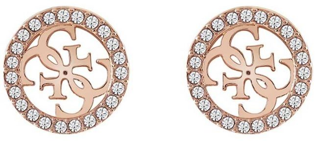 Guess | Tropical Sun | Rose Gold Clear Crystal Earrings | UBE78006